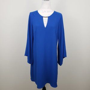 Vince Camuto Bell Sleeve Sheath Dress Royal Blue